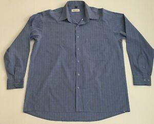 Pierre Cardin Long Sleeve Business Shirt Size M Chemises Blue Stripe