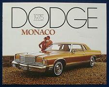 Prospekt brochure 1975 Dodge Monaco (USA)