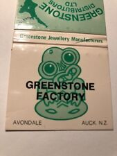 Vintage Matchbook Cover Greenstone Jewellery MFG Avondale Auckland New Zeland