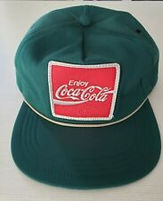 Coca Cola Green Snapback Hat / Cap - Made in USA