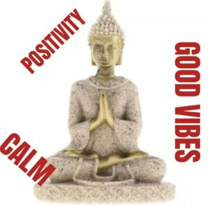 Handmade Hue Sandstone Meditation Buddha Statue