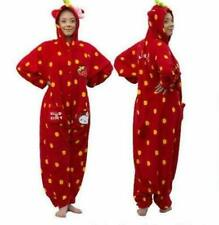 Hello Kitty All in one Jumpsuit Kawaii kigurumi RED STRAWBERRY LOUNGE SUIT