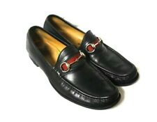 Gucci Black Leather Princetown Loafers Mules Slip Ons 10 Horsebit 1953 Green Red