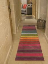 SALE Illusion Candy Multi Striped Wool Runner 60cm by 230cm