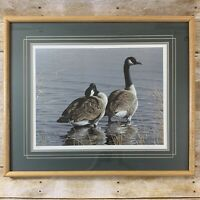Neal Anderson The Sentry 1987 Canada Geese Limited Edition Print Framed