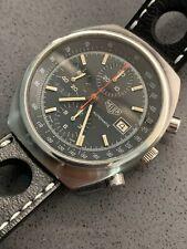 Heuer Pasadena 750.501 cronografo automatico vintage con scatola e cinturino nos