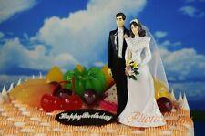 Wilton Wedding Cake Topper Ornament Formal Attire Bride Groom Decoration Model