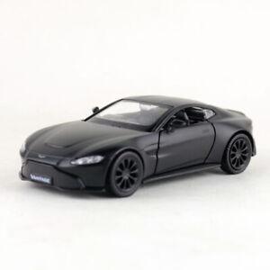 Aston Martin Vantage V8 Sports Car 1:36 Model Car Diecast Toy Gift Matte Black