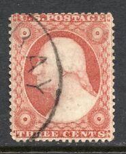 Scott 26  Used VF  3c George Washington 1857 Issue   CV $30.00