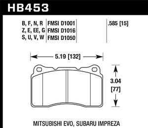 Disc Brake Pad Set-Base Front Hawk Perf HB453F.585