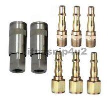 "8pc BSP 1/4"" female coupler fittings coupling air tools line + m/f plugs garage"