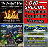 3 DVD Combo Fireplace, Goldfish Aquarium, Ocean Waves Virtual Ambient Video