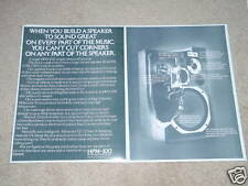 Pioneer HPM-100 Speaker Ad,2 pgs,1978,cutaway! Article