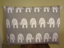 SUPER SALE Decorative Pillow Cover Elephants Pattern White Gray