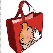 Tim und Struppi : Beutel, Tasche, Einkaufsbeutel in rot