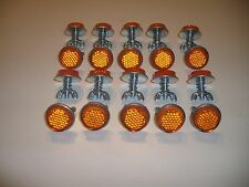 "20 Orange Goliath Tool Mini Bicycle Reflectors 7/8"" Diameter with Wing nuts"
