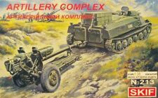 MT-LB TRACTOR WITH D-30 HOWITZER ARTILLERY COMPLEX  (SOVIET MKGS)#213 1/35 SKIF