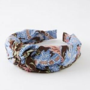 NWT Anthropologie Milena  Blue Floral Knot Headband