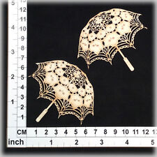 Chipboard Embellishments for Scrapbooking, Cardmaking - Parasols 21176w