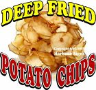 Deep Fried Potato Chips DECAL (CHOOSE YOUR SIZE) Food Truck Sign Concession