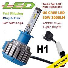 H1 LED Headlight 30W Turbo Bulb H7 HB4 H11 H9 H3 9005 HB3 9006 6000K 3000LM 1PC