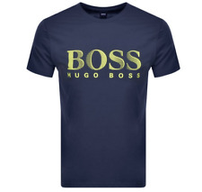 Hugo Boss Para Hombre Rn Protección UV Camiseta Camiseta en Azul marino BNWT // //