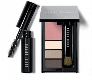 NEW Bobbi Brown Weekend Mini Eye and Cheek Palette Shadow Blush Mascara Brush
