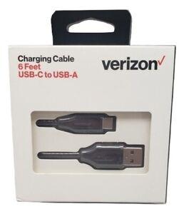 Original Verizon 6 Ft USB-C To USB-A Charging Cable - Black