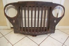 VERY GOOD SOLID OEM 1949 WILLYS TRUCK AND STATION WAGON NOSE GRILLE FRONT CLIP
