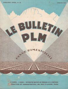revue bulletin PLM n°25 /  janvier 1933
