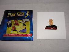 Star Trek Next Generation 50th Ann. Captain Picard Metal Pin-New