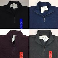 Calvin Klein Jeans Men's 1/4 Zip Shirt Long Sleeve Pullover Black Gray Blue Red