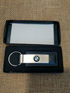 BMW black leather and Chrome Keychain BMW of Columbia MO free shipping NIB