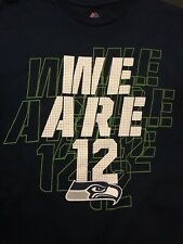 """Majestic NFL Seattle Seahawks Football""""We Are 12""""T-Shirt Men Size Large ab9f934a6"""