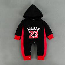 6f388250d BABY JORDAN 23 ROMPER +HAT BOY GIRL BABYGROW OUTFITS CLOTHES BLACK 3-6  MONTHS