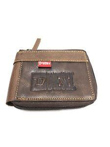 Mens Brown Diesel Leathar Wallet New