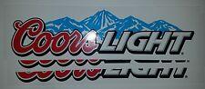 3 COORS Light Beer Sticker Decals. Toolbox  Laptop Car Bumper Bar Window Wall