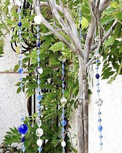 Hanging Glass Mirrors,  Glass Beads , Garden Decor, Handmade, Suncatchers