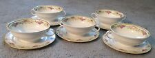 5 Baronet Cream Soup bowls Made In Bohemia