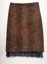 Jane Norman Women Animal Print Knee Length Pencil Bodycon Skirt Size S/M