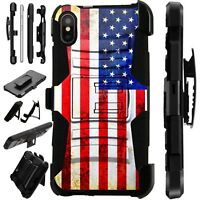 Lux-Guard For iPhone 6/7/8 PLUS/X/XR/XS Max Phone Case Cover US FLAG FADED