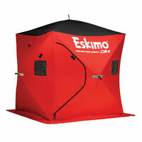 Eskimo QuickFish3 Insulated 3-Person Pop Up Ice Fishing Shanty Shack Shelter Hut