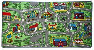 Kids Road Traffic Play mat Rug Large Non-Slip Carpet