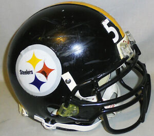 Rare -Pittsburgh Steelers- Clark Haggans Game Used Riddell VSR-4 Football Helmet