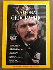 National Geographic Magazine April 1982 Poland, With Map, Whales
