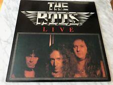 The Rods Live LP Original 1983 Combat/Relativity MX- 8003 RARE Black Sabbath Dio