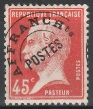 """FRANCE STAMP PREOBLITERE 67 """" PASTEUR 45c SURCHARGE A CHEVAL"""" NEUF xx TTB  M283"""