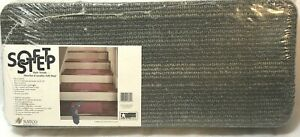 "Natco Home Fashions 13 Soft Step 8"" x 18"" Multi-Gray Carpet Stair Treads NEW"
