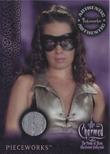 HOLLY MARIE COMBS as PIPER Charmed Pieceworks SHOW WORN SILVER LEATHER TOP PW-3