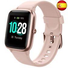 Fitpolo Reloj Inteligente, Smartwatch Hombre y Mujer Pulsera Actividad  (Rosado)